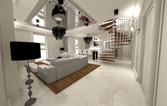 projekt domu w stylu glamour