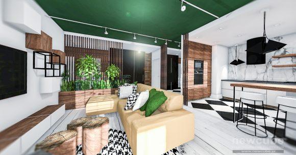 Mieszkanie z elementami tropikalnymi